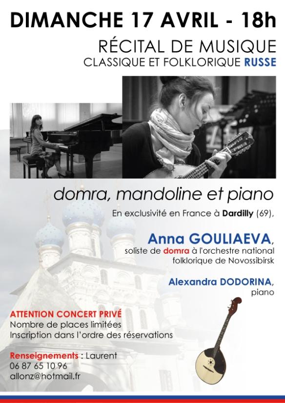 Récital Anna Gouliaeva et Alexandra Dodorina - domra, piano