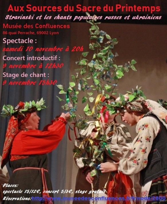 Afiche concert Lyon 9-10 nov